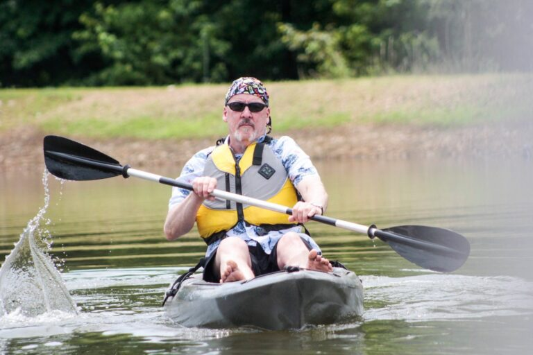 OWAA member paddles towards the camera
