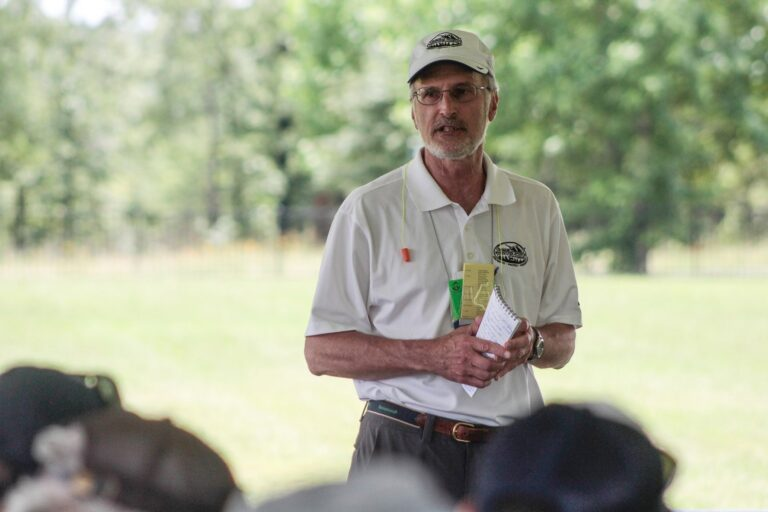 OWAA member gives an outdoor presentation