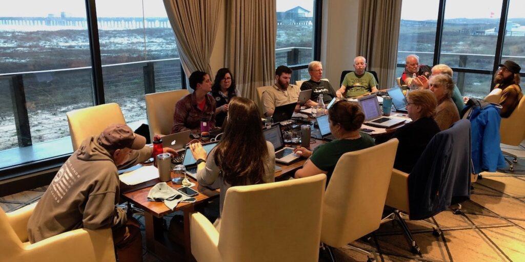 OWAA board of directors in a meeting