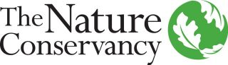 Logo for The Nature Conservancy, a green globe covered in leaves